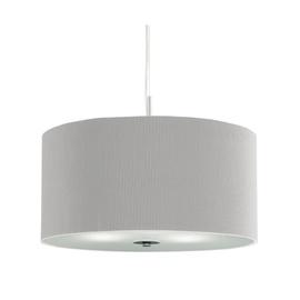 Klasikinis pakabinamas šviestuvas Searchlight Drum Pleat 2353-40SI, 3 x 7W E27