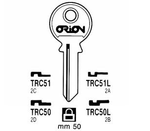 Raktų ruošinys Jma Tri Circl TRC51/TRI-9D, 1 vnt