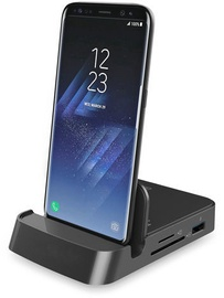 Digitus USB-C Smartphone Docking Station 7-Port Black
