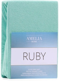AmeliaHome Ruby Frote Bedsheet 200-220x200 Peppermint 54