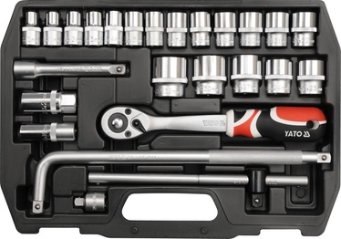 Yato Socket Set With Ratchet 25pcs YT-3874
