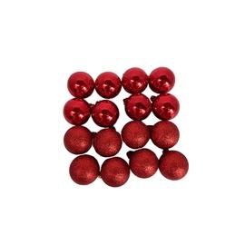 Eglutės žaisliukas Christmas Touch N3/4016AY Red, 40 mm, 16 vnt.