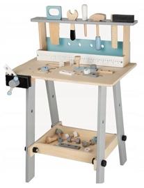 Lomu spēle (virtuve, ārsta komplekti, spēļu teltis utt.) EcoToys Wooden Workshop With Tools 1172