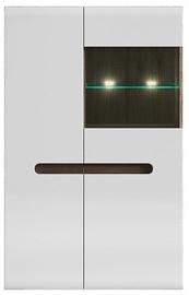 Black Red White Glass Cabinet Azteca Trio SFK1W1D White/San Remo Oak