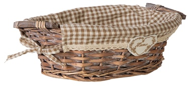 Home4you Basket Willi Home 34x21xH10cm Light Brown