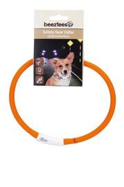 Mirgojoša LED kakla siksna suņiem Beeztees, USB, oranža, 1x70 cm