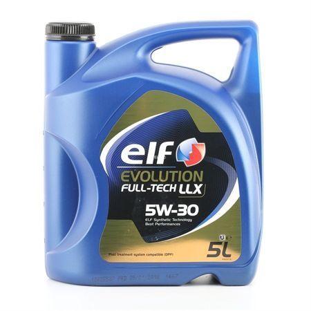 Машинное масло Elf Evolution FullTech LLX 5W - 30, синтетический, для легкового автомобиля, 5 л