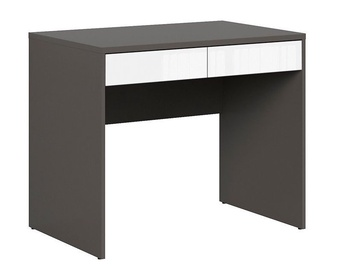 Black Red White Graphic Desk Wolfram White/Grey