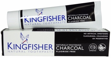 Kingfisher Natural Toothpaste Charcoal Whitening 100ml FluorideFree