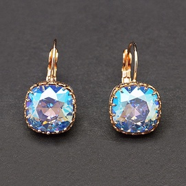 Diamond Sky Earrings With Crystals From Swarowski Sunny Vintage V Light Sapphire Shimmer