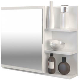 Top E Shop Cabinet Lumo With Mirror Right White