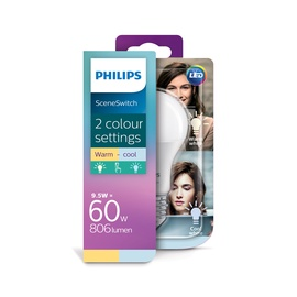 Philips SceneSwitch Led Bulb E27 9W (60W) WW-CW 8718696598375