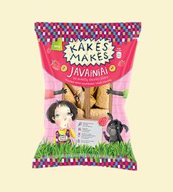Javainiai Kakės Makės su aviečių skonio įdaru, 150 g