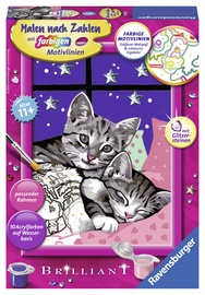 Ravensburger Painting By Numbers Sleeping Cats 279951