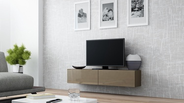 TV staliukas Cama Meble Vigo 140 Latte/Latte Gloss, 1400x300x400 mm