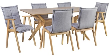 Home4you Dining Room Set Razor 2+4 Grey/Oak