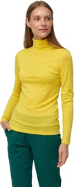 Audimas Merino Wool Long Sleeve Roll Neck Top Vibrant Yellow M