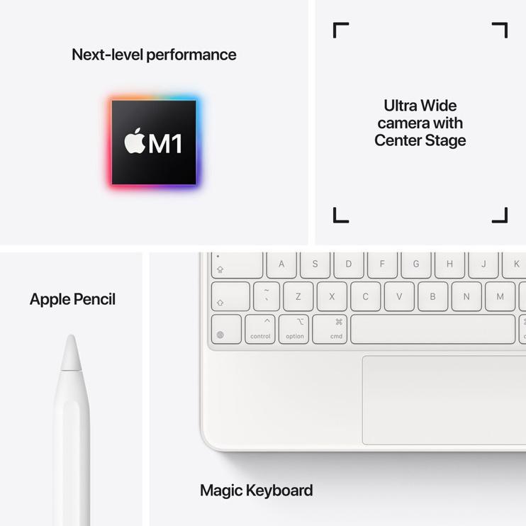 Планшет Apple iPad Pro 11 Wi-Fi 5G (2021), серый, 11″, 8GB/512GB