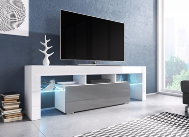 Cama Meble Toro 138 TV Stand White/Grey Gloss