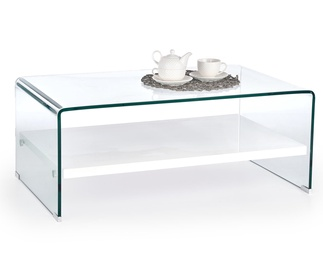 Kavos staliukas Elia baltas, 110 x 60 x 40 cm