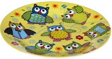 Banquet Little Owls Plate 20cm Yellow