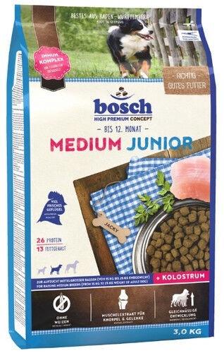 Сухой корм для собак Bosch PetFood Medium Junior, 3 кг