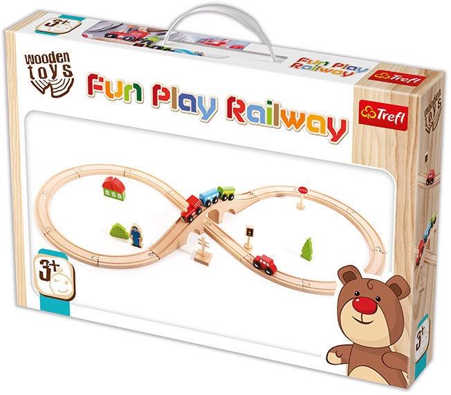 Trefl Wooden Toys Fun Play Railway