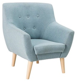 Fotelis Signal Meble Nordic 1, 76 x 75 x 90 cm, mėlyna