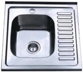 Мойка Tredi DM-6060 Right 600x600mm Stainless Steel