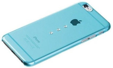X-Fitted Three Stones Swarovski Crystals Back Case For Apple iPhone 6/6s Blue