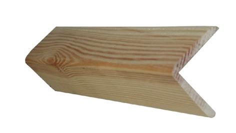 Wandplank 200 Cm.Isorinis Kampas Pusies 4 X 4 X 200 Cm
