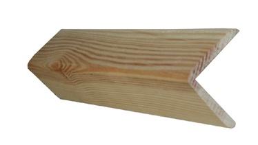 Išorinis kampas, pušies, 4 x 4 x 200 cm