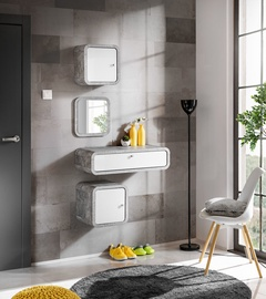 ASM Wally I Hallway Wall Unit Set Gray/Glossy White