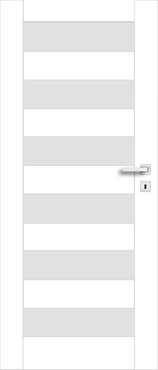 Полотно межкомнатной двери PerfectDoor ERIE 01, белый, 2035 см x 644 см x 4 см