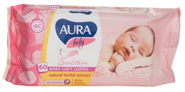 Aura Baby Wet Napkins Sensitive 60pcs