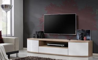TV-laud ASM RTV Ontario II San Remo Oak/White Gloss, 1900x480x430 mm