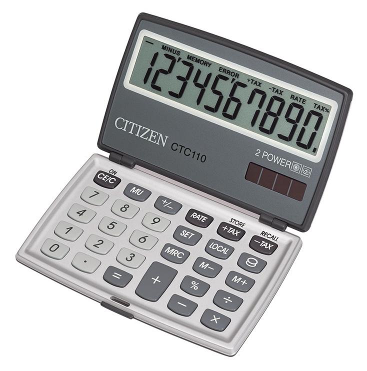 Citizen Calculator CTC 110WB Silver
