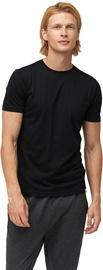 Audimas Mens Merino Wool Short Sleeve T-Shirt Black XL