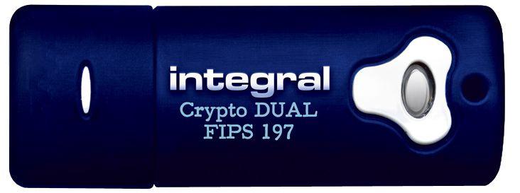 USB atmintinė Integral Crypto Dual Fips 197 Encrypted, USB 2.0, 8 GB