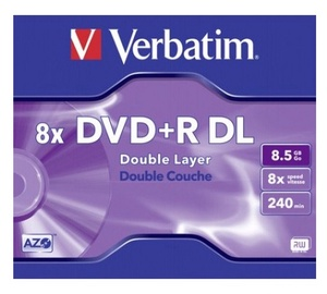 Kompaktinis diskas DVD+R Verbatim, 8,5 GB