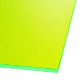 Ohne Hersteller Acrylic Glass GS Transparent Green 400x400mm