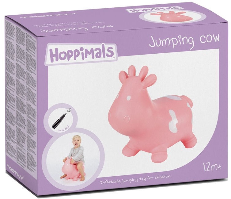 Tootiny Hoppimals Jumping Cow Pink