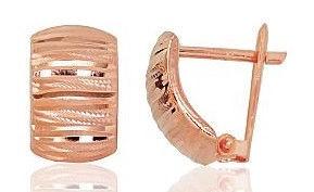 Diamond Sky 14K Red Gold Earrings Classic XIX