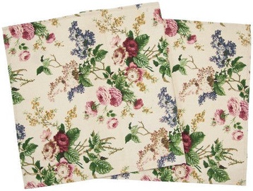 Home4you Tablecloth 45x116cm Rose 107