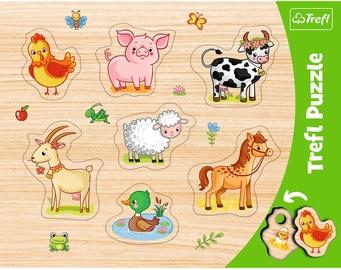 Puzle Trefl Frame Farm Animals 31305, 7 gab.