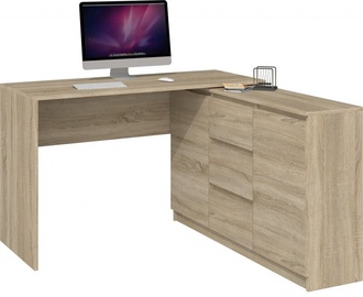 Top E Shop Desk With Chest Of Drawers 2D3S Sonoma Oak