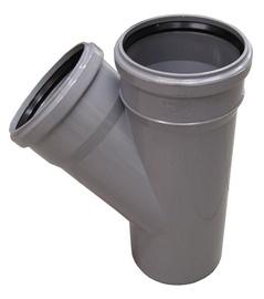 Kanalizācijas caurules trejgabals Wavin D110mm, 45°, PVC