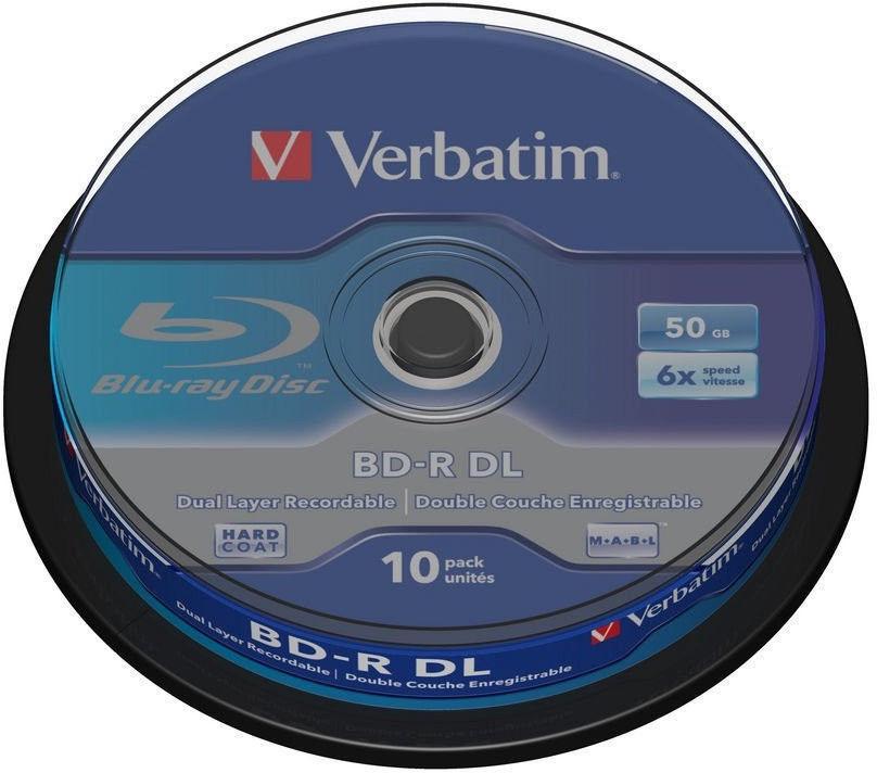 Verbatim BD-R DL 50GB 6x 10pcs