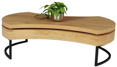 Kohvilaud Halmar Aurea 3 Golden Oak/Black, 1150x380x800 mm