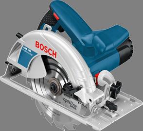 Diskinis pjūklas Bosch GKS 190, 190 mm, 1400 W, su lagaminu